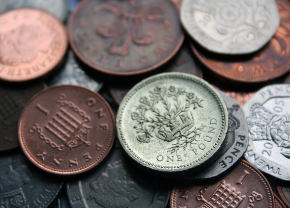 Pound, penny and pence coins